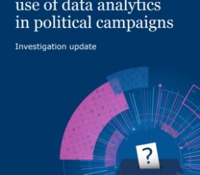 ICO Investigation into Cambridge Analytica